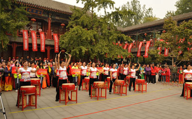 承接北京市第五届腰鼓赛
